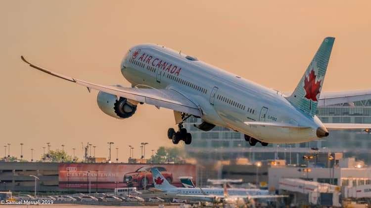 La Sortie de Zone d'un pilote d'avion de Air Canada